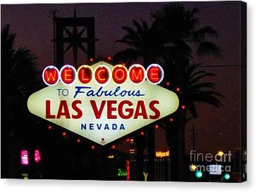 Fabulous Las Vegas Canvas Print by John Malone