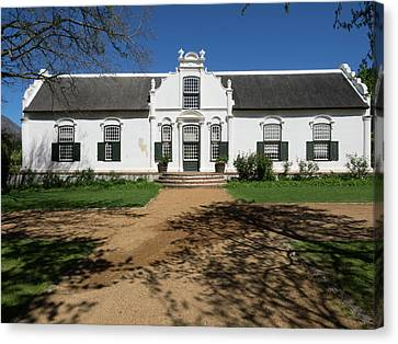 Facade Of A Building, Boschendal, Cape Canvas Print by Panoramic Images