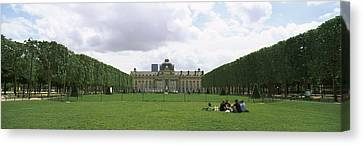 Facade Of A Building, Ecole Militaire Canvas Print by Panoramic Images