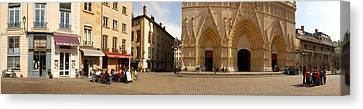 Facade Of A Cathedral, St. Jean Canvas Print by Panoramic Images