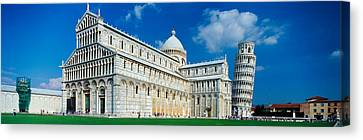 Facade Of A Cathedral With A Tower Canvas Print by Panoramic Images
