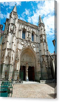 Facade Of A Church, Place Saint Pierre Canvas Print by Panoramic Images