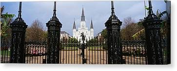 St.louis Cathedral Canvas Print - Facade Of A Church, St. Louis by Panoramic Images