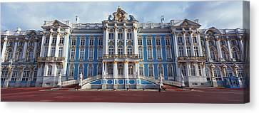 Facade Of A Palace, Catherine Palace Canvas Print by Panoramic Images