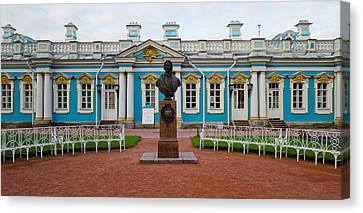 Facade Of A Palace, Tsarskoe Selo Canvas Print
