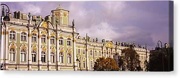 Facade Of A Palace, Winter Palace Canvas Print
