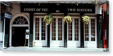 Facade Of A Restaurant, Court Of Two Canvas Print by Panoramic Images