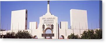 Facade Of A Stadium, Los Angeles Canvas Print
