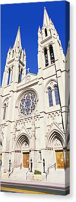 Facade Of Cathedral Basilica Canvas Print by Panoramic Images