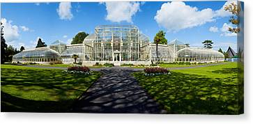 Facade Of Curvilinear Glass House Canvas Print by Panoramic Images