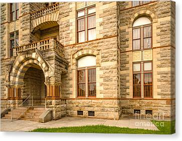 Facade Of Fayette County Courthouse - La Grange Texas Canvas Print by Silvio Ligutti