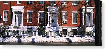 Facade Of Houses In The 1830s Federal Canvas Print by Panoramic Images