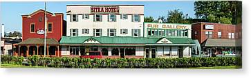 Facade Of Sitka Hotel, Lincoln Street Canvas Print by Panoramic Images