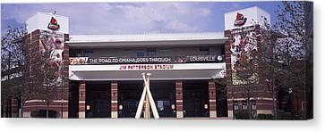 Facade Of The Jim Patterson Stadium Canvas Print by Panoramic Images