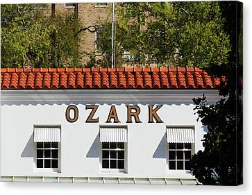 Facade Of The Ozark Bathhouse Canvas Print by Panoramic Images