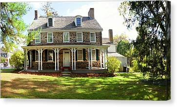 Facade Of The Parry Mansion Built Canvas Print