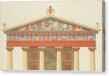Facade Of The Temple Of Jupiter Canvas Print by Daumont