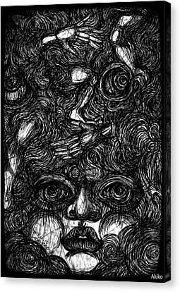 Face And Etc Canvas Print by Akiko Okabe