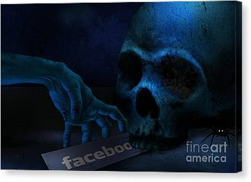 Creepy Canvas Print - Face Boo by Peter Awax