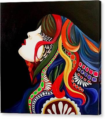 Face In Estasy Canvas Print by Xafira Mendonsa