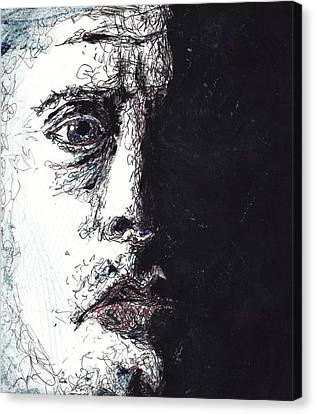Face In The Dark Canvas Print