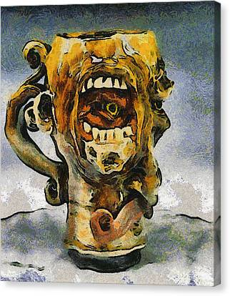 Face Mug By Face Jug  Canvas Print by Teara Na
