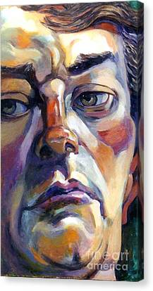 Face Of A Man Canvas Print by Stan Esson