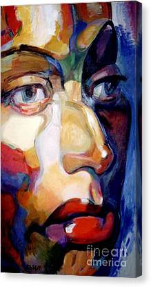 Face Of A Woman Canvas Print by Stan Esson