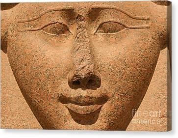 Face Of Hathor Canvas Print by Stephen & Donna O'Meara