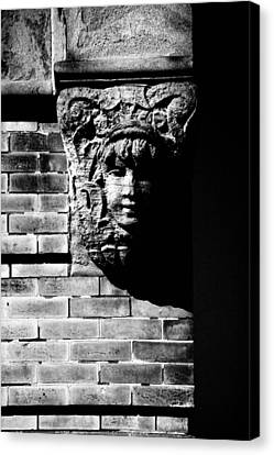 Face Of Stone Canvas Print by Karol Livote