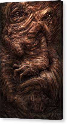Face Of The Beast Canvas Print by Ethan Harris