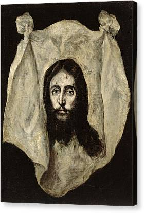 Face Of The Christ Canvas Print by El Greco