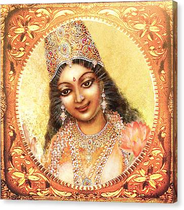 Face Of The Goddess - Lalitha Devi  Canvas Print by Ananda Vdovic