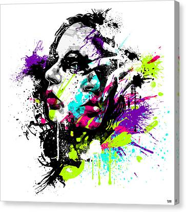 Face Paint 1 Canvas Print by Jeremy Scott