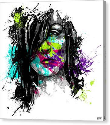 Face Paint 3 Canvas Print by Jeremy Scott