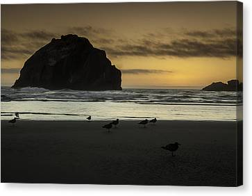 Face Rock Bandon By The Sea Canvas Print by Jean-Jacques Thebault