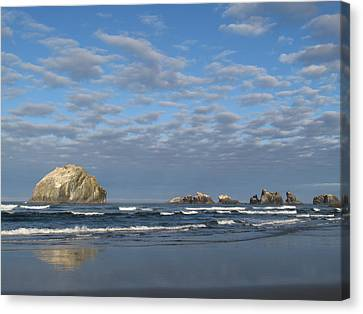 Face Rock Blues Canvas Print by Suzy Piatt