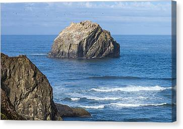 Canvas Print featuring the tapestry - textile Face Rock Landscape by Dennis Bucklin