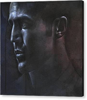 Face Study In The Dark Canvas Print by Chris Lopez
