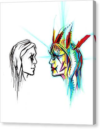 Face To Face Canvas Print by Andrea Carroll