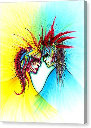 Face To Face II Canvas Print by Andrea Carroll