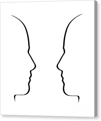 Face To Face Canvas Print by Judith  Flacke