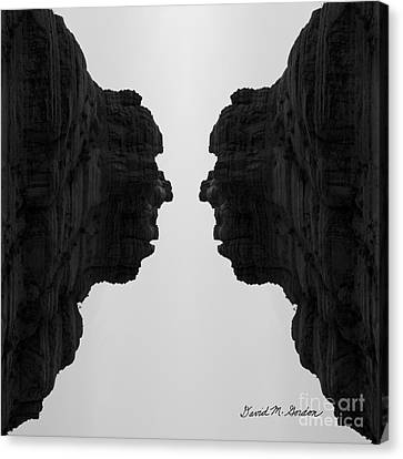Face To Face Montage II Canvas Print by Dave Gordon
