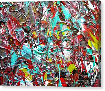 Face To Face Myeloma Canvas Print