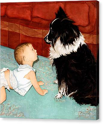 Face-to-nose Canvas Print by Barbara Jewell