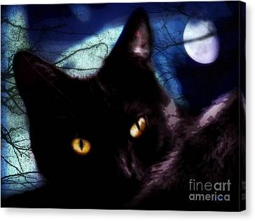 Canvas Print featuring the digital art Face Your Fears  by Mindy Bench
