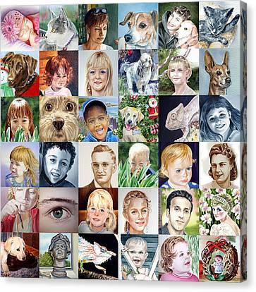 Facebook Of Faces Canvas Print by Irina Sztukowski