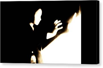 Canvas Print featuring the photograph Faceless Magician  by Jessica Shelton