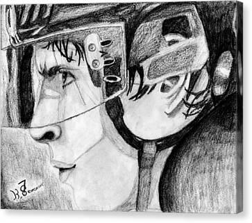 Nhl Hockey Canvas Print - Faceoff Focus by Kayleigh Semeniuk