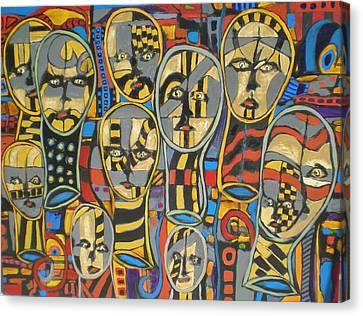 Faces #1 Canvas Print